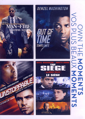 Man On Fire / Out Of Time / Unstoppable / The Siege (Boxset) (Bilingual) DVD Movie