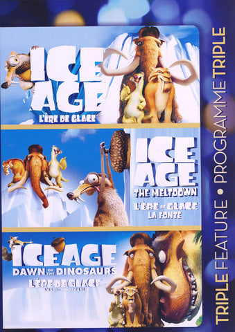 Ice Age (Ice Age / The Meltdown / Dawn of The Dinosaurs) (Bilingual) DVD Movie