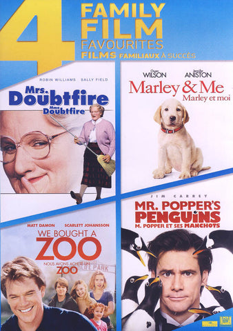 Mrs. Doubtfire / Marley & Me / We Bought A Zoo / Mr. Popper s Penguins (Boxset) (Bilingual) DVD Movie