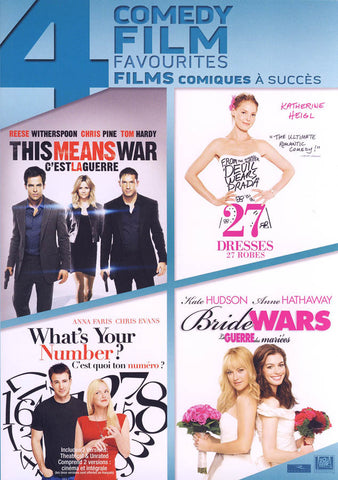 This Means War / 27 Dresses / What s Your Number / Bride Wars (Boxset) (Bilingual) DVD Movie
