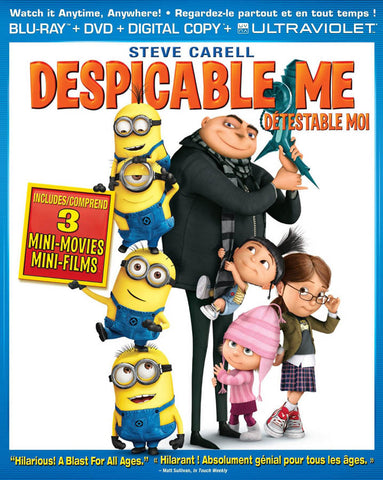 Despicable Me (Blu-ray + DVD + Digital Copy + UltraViolet Copy) (Bilingual) (Blu-ray) BLU-RAY Movie
