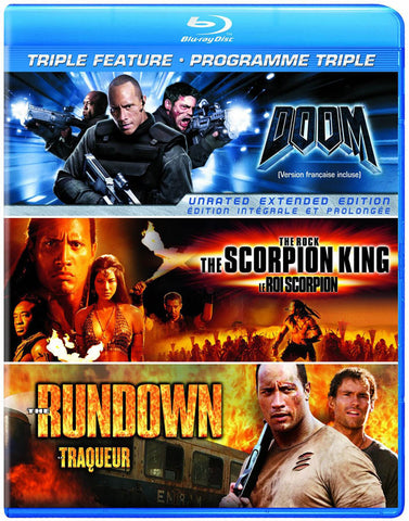 Doom / Scorpion King / Rundown (Triple Feature) (Blu-ray) (Bilingual) BLU-RAY Movie