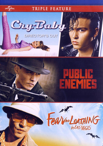 Cry-Baby / Public Enemies / Fear And Loathing in Las Vegas (Triple Feature) DVD Movie