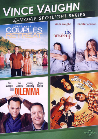 Vince Vaughn (Couples Retreat / The Break-Up / The Dilemma / Clay Pigeons) (4 Movie Spotlight Series DVD Movie