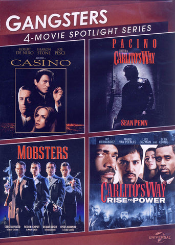 Gangsters (Casino / Carlito s Way / Mobsters / Carlito s Way : Rise To Power) (4-Movie Spotlight Ser DVD Movie