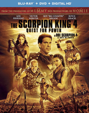 The Scorpion King 4 - Quest for Power (Blu-ray + DVD + Digital HD) (Bilingual) (Blu-ray) BLU-RAY Movie