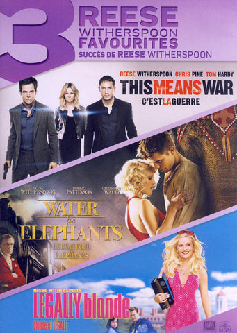 This Means War / Water for Elephants / Legally Blonde (Reese Witherspoon) (Bilingual) DVD Movie