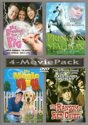 My Brother the Pig / The Princess Stallion / My Magic Dog / The Ransom of Red Chief (4 Movie Pack) DVD Movie