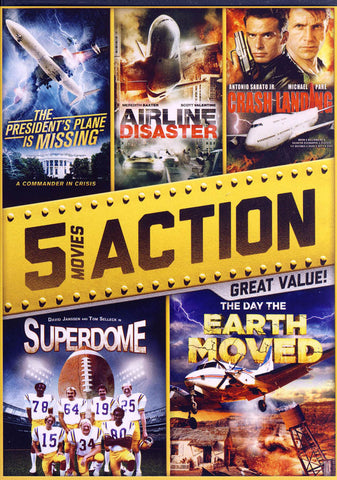 5-Action Movies (President s Plane is Missing........The Day The Earth Moved) DVD Movie