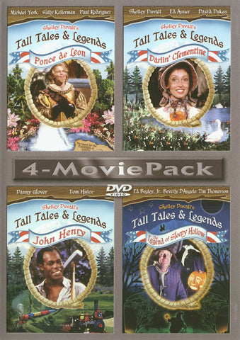 Tall Tales & Legends (Ponce de Leon / Darlin Clementine / John Henry / Legend Of Sleepy Hollow) 4-Mo DVD Movie