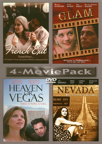 French Exit / Glam / Heaven or Vegas / Nevada (4-Movie Pack) DVD Movie