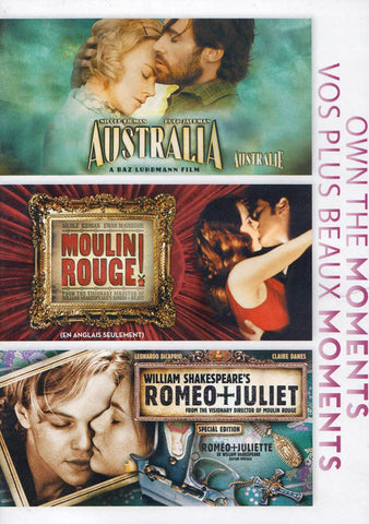 Australia / Moulin Rouge / William Shakespeare s Romeo + Juliet (Bilingual) (Boxset) DVD Movie
