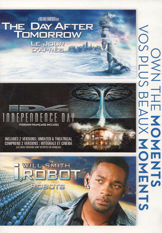 The Day After Tomorrow / Independence Day / i,Robot (Bilingual) (Boxset) DVD Movie