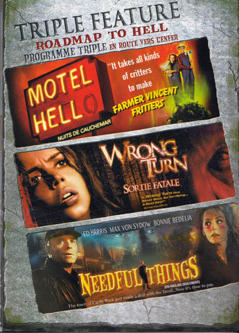 Motel Hell / Wrong Turn / Needful Things (Triple Feature) (Bilingual) DVD Movie