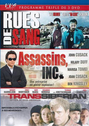 Rues De Sang / Assassins, INC. / Transsiberian (VVS Triple Feature) DVD Movie