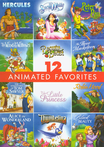 12 Animated Favorites - Family Film DVD Movie