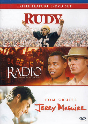 Rudy / Radio / Jerry Maguire (Triple Feature 3-DVD Set) DVD Movie