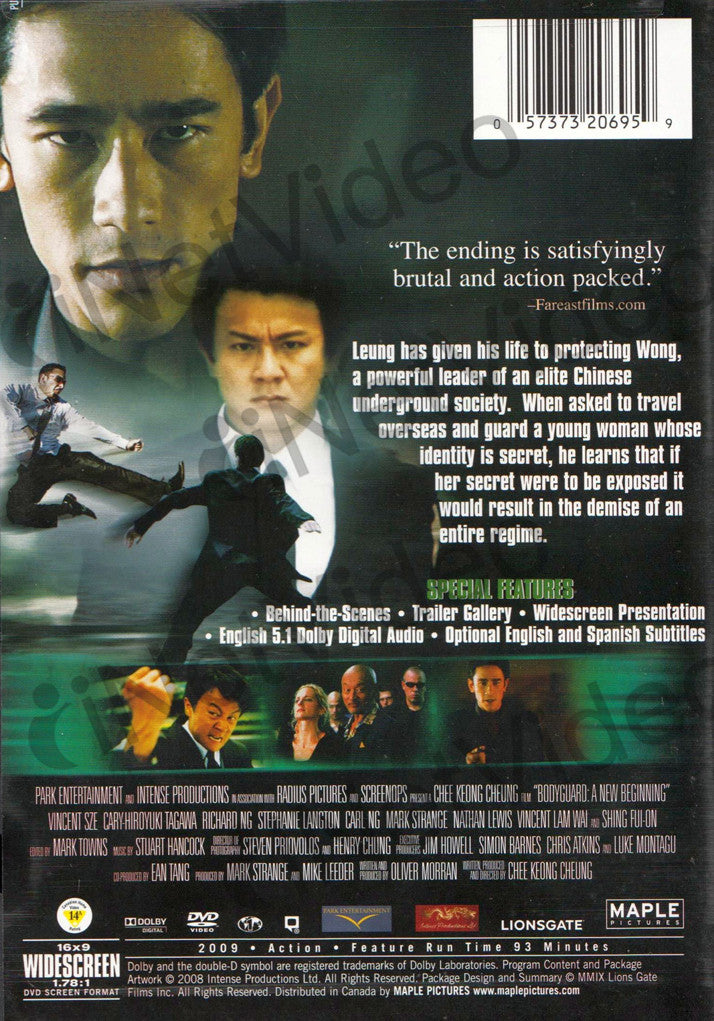 Bodyguard A New Beginning Maple On Dvd Movie