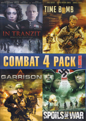 Combat 4 Pack - Volume 1 (In Tranzit / Time Bomb / Garrison / Spoils Of War) DVD Movie