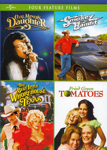Coal Miner's Daughter / Smokey & The Bandit / Best Little Whorehouse in Texas / Fried Green Tomatoes DVD Movie