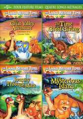 The Land Before Time (4 Feature Films)(Great Valley Adventure ....... Mysterious Island) (Bilingual)