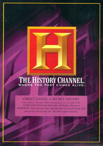 Street Gangs: A Secret History - The History Channel DVD Movie