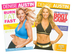 Denise Austin 2 DVD Set (Burn Fat Fast/ 3 Week Boot Camp) (2 pack) (Boxset)