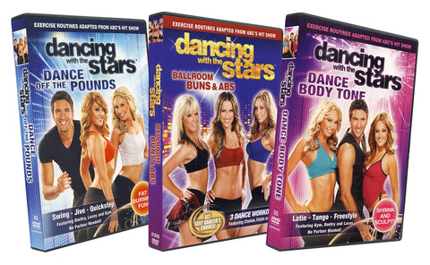 Dancing With The Stars (Dance Off The Pounds / Ballroom Buns and Abs / Dance Body Tone) (3 pack) (Bo DVD Movie