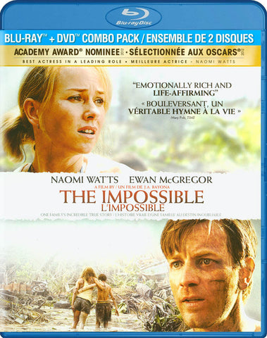 The Impossible (Blu-ray + DVD Combo Pack) (Bilingual) DVD Movie
