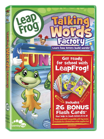 Leap Frog - Talking Words Factory (Reading Skills) (With Flash Cards) DVD Movie