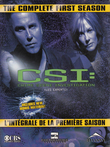 CSI - Crime Scene Investigation - The Complete First Season (1)(Bilingual) (Boxset) DVD Movie
