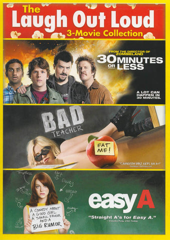 30 Minutes Or Less / Bad Teacher / Easy A (+ Digital Copy) (Triple Feature) DVD Movie