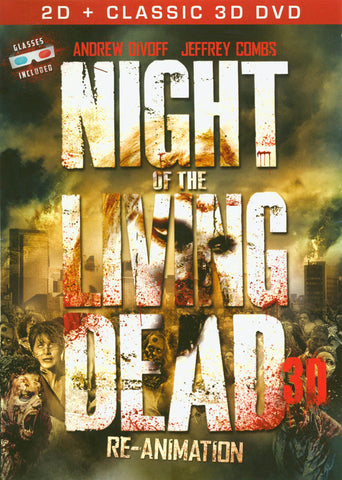 Night of the Living Dead 3D: Re-Animation (2D + Classic 3D) DVD Movie