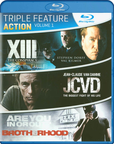 Triple Feature : Action - Vol. 1 (XIII: The Conspiracy / JCVD / Brotherhood) (Blu-ray) BLU-RAY Movie