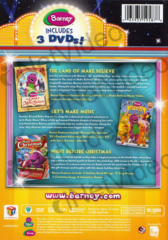 Barney Night Before Christmas Dvd Menu 92017 | MOVIEWEB
