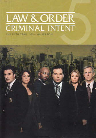 Law & Order - Criminal Intent - The Fifth Year (Boxset) DVD Movie