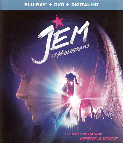 Jem and the Holograms (Blu-ray + DVD + Digital HD) (Blu-ray) BLU-RAY Movie