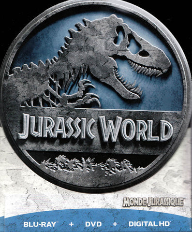 Jurassic World (Round Tin) (Blu-ray + DVD + Digital HD) (Bilingual) (Boxset) DVD Movie