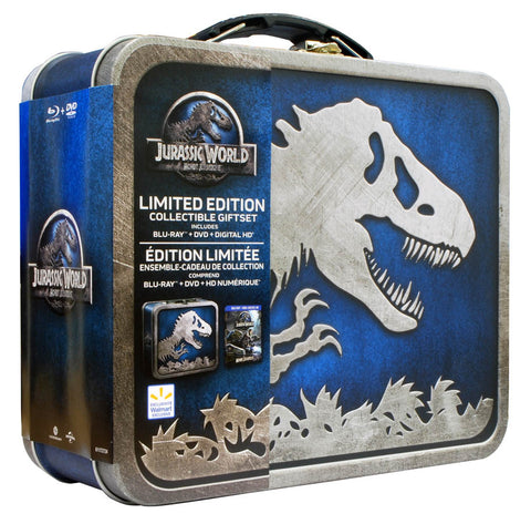 Jurassic World Limited Edition (Metal Lunchbox) (Blu-ray + DVD + Digital HD) (Boxset) (Bilingual) DVD Movie