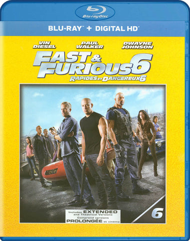 Fast & Furious 6 (Extended Edition) (Blu-ray + Ultraviolet) (Bilingual) DVD Movie