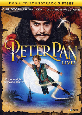 Peter Pan Live! (2-Disc DVD + CD Soundtrack Gift Set) DVD Movie