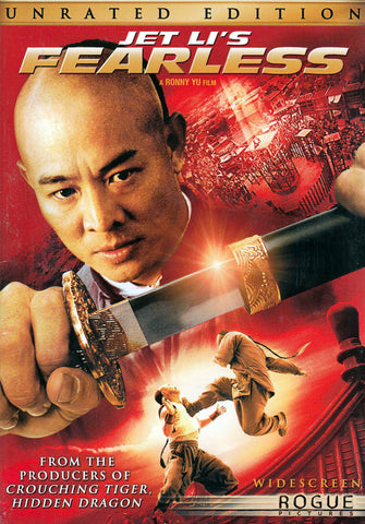 Jet Li's Fearless (Unrated Widescreen Edition) DVD Movie