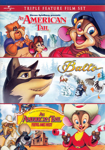An American Tail / Balto / An American Tail: Fievel Goes West (Triple Feature) DVD Movie