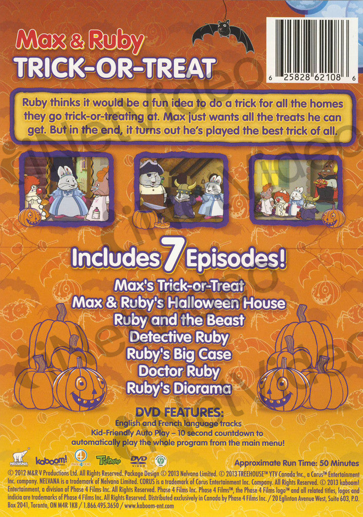 Max Amp Ruby Trick Or Treat On Dvd Movie