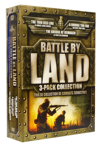 Battle by Land Movie Collection (Bridge At Remagen/Bridge Too Far/Thin Red Line) (Boxset)(Bilingual) DVD Movie
