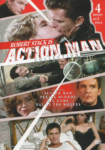 Action Man Collection (Action Man, Peking Blonde, The Big Game, The Day of the Wolves) DVD Movie