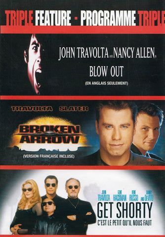 Blow Out / Broken Arrow / Get Shorty (John Travolta Triple Feature) (Bilingual) DVD Movie