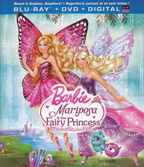 Barbie Mariposa & The Fairy Princess (Bilingual) (Blu-Ray + DVD +Digital Copy + UltraViolet) (Blu-ra