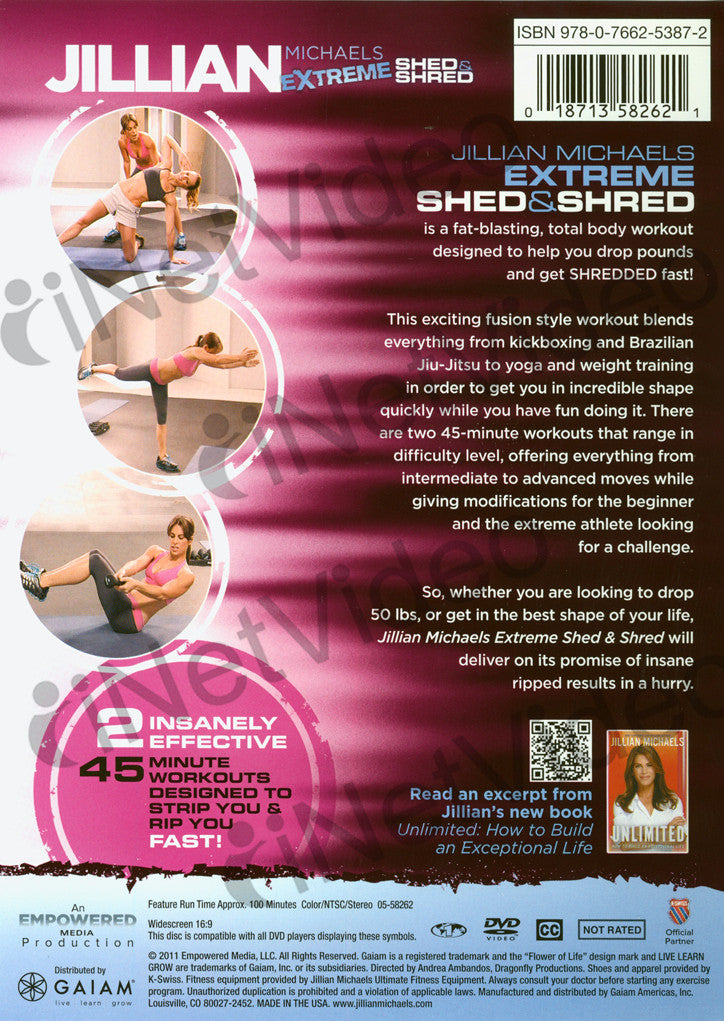 Jillian Michaels Extreme Shed Amp Shred On Dvd Movie