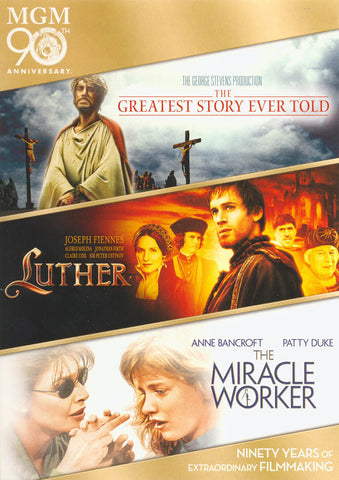 Greatest Story Ever Told, The / Luther / The Miracle Worker DVD Movie